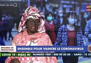 La Présidente de l'Association Nationale des Sages-Femmes d'Etat du Sénégal (ANSFES) sur le plateau TV de la RTS